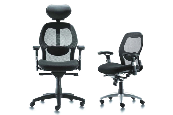 mesh chair with adjustable armrest