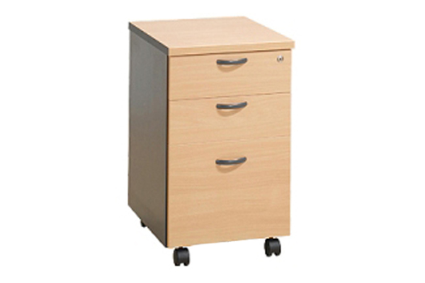 wooden mobile pedestals and drawers