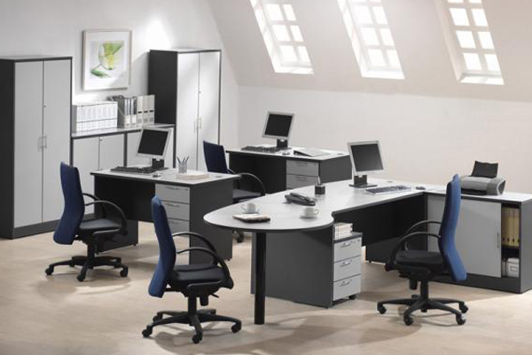 2 tone grey color office furniture