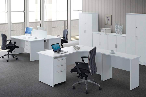 White color office furniture