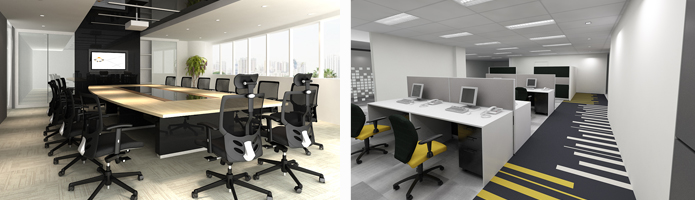 Office commercial interior designers